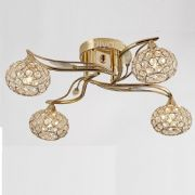 Leimo 4 Light Fitting in French Gold and Crystal - DIYAS IL30964